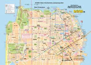 San Francisco Maps by San Francisco Tour Map On Pinterest Maps Buses And
