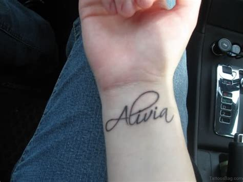 name wrist tattoo designs 70 interesting name tattoos on wrist