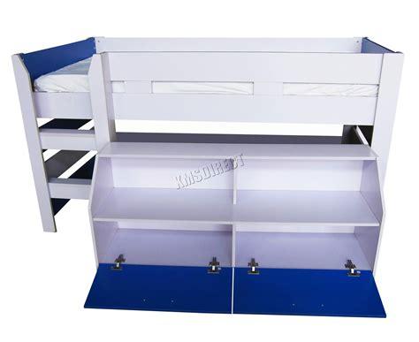 foxhunter mdf 3ft mid sleeper cabin bunk bed wooden