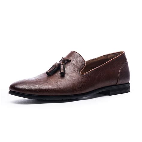 Dress Import Brown Bigsize mens casual leather black brown large size 29 suede dress tassel loafers flat shoes brand