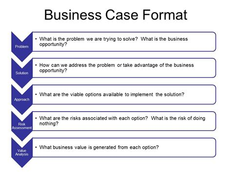 Simple Business Case Template Powerpoint Business Case Simple Business Template Powerpoint