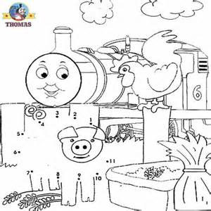 kids games dot dot numbers coloring pictures free train thomas tank engine
