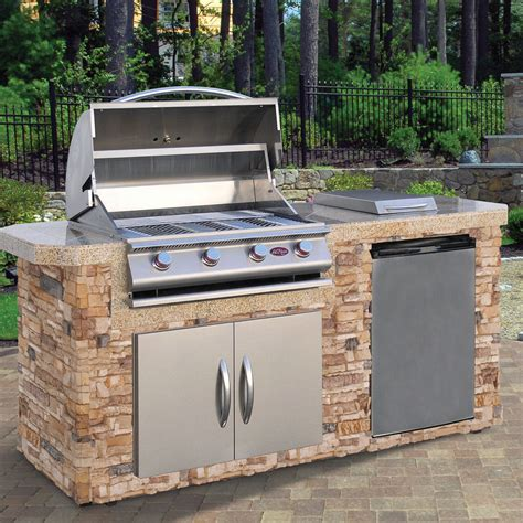 bbq outdoor kitchen islands complete 84 quot nat gas outdoor kitchen island bbq side burner refer doors ebay
