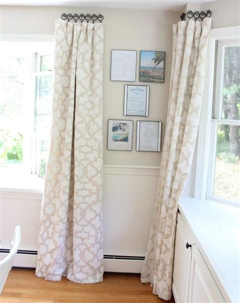 drop cloth curtains tutorial stenciled drop cloth curtain tutorial drop cloth