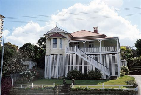 Colonial Style Home Floor Plans Queenslander House Brisbane Around The Mid 1980s Qut