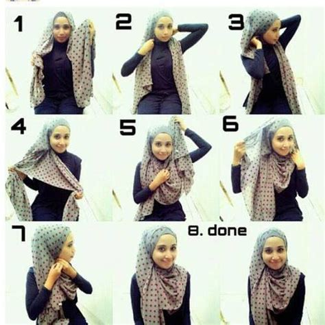 wear hijab hijab styles tutorial step  step