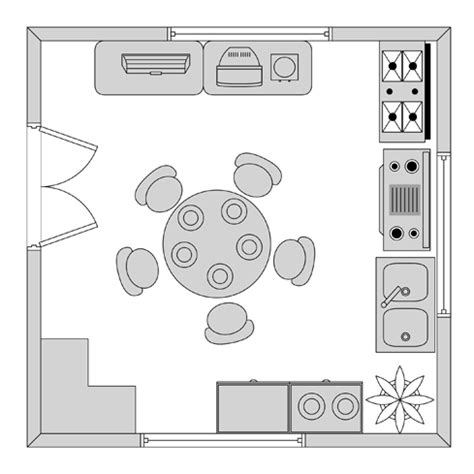 Kitchen Symbols For Floor Plans | home plan software