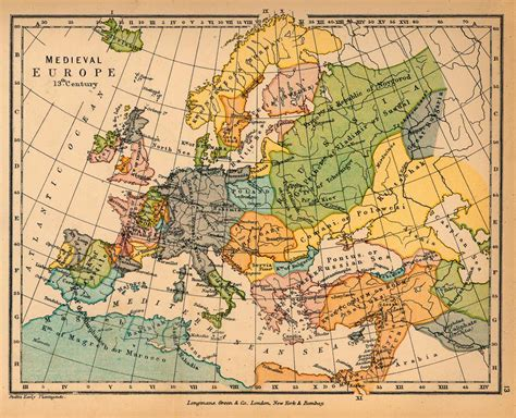 medieval europe in the 13th century full size