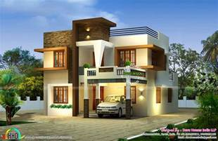 contemporary east facing house plan kerala home design