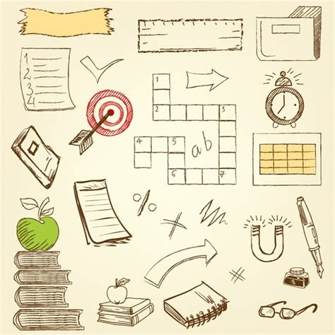 Doodle Education Free Vector In Adobe Illustrator Ai Ai