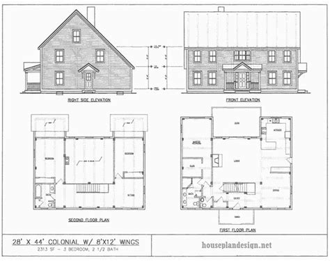 Saltbox House Floor Plans Authentic Saltbox House Plans Cottage House Plans