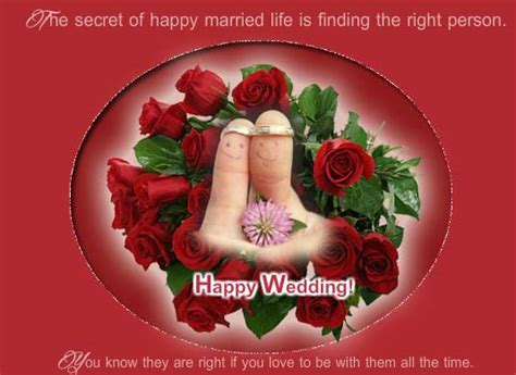 Secret Of Happy Married Life! Free Congratulations eCards
