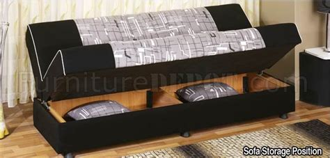 Detroit Tri Tone Fabric Convertible Sofa Bed W Storage Space Sofa Beds With Storage Space