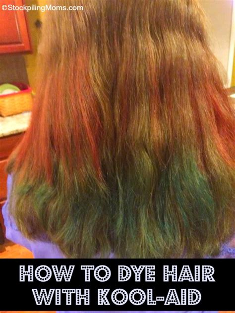 color hair with kool aid how to dye hair with kool aid