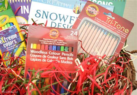 coloring book gift basket 3 diy gift basket ideas