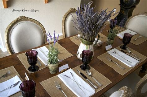 peonies and orange blossoms lavender french country table setting
