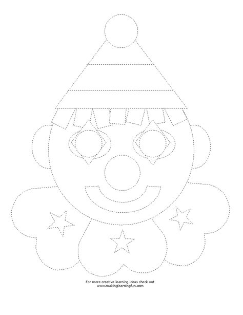 Clown Worksheets by Crafts Actvities And Worksheets For Preschool Toddler And