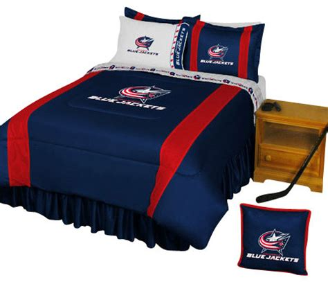 hockey bed nhl columbus blue jackets bedding set hockey bed full