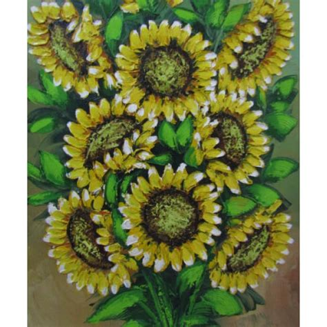 Hiasan Dindin Abstrak Bunga Orange hiasan dinding lukisan motif bunga matahari