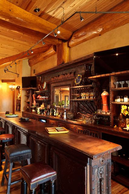 log home lighting design log cabin awesome traditional home bar dallas by