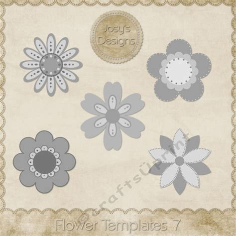 Layered Flower Card Template by Flower Layered Templates Pkg 7 Cup748521 70864