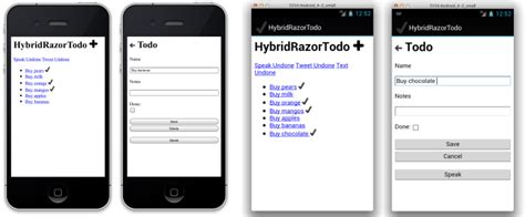 html templates for android building html views using razor templates xamarin