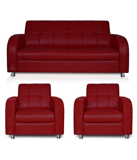 therapy atlanta spaces therapy atlanta leatherette 2 1 1 seater sofa set maroon buy spaces therapy