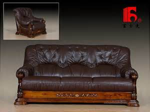 Wood And Leather Sofa Eclectic Style Carved Wood Sofa Upholstered In Leather 18901895 Mathias Mid Century Wood Frame