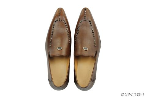 mens studded loafers mens real leather loafers metal studded smart casual dress