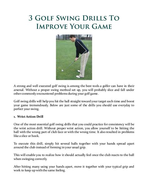drills to improve golf swing 3 golf swing drills to improve your game