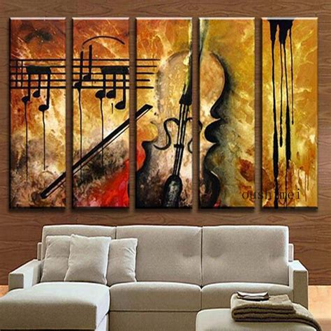 living room art paintings aliexpress com buy hand painted music paintings for