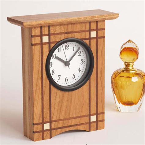 wood clock designs crisscross clock woodworking plan from wood magazine