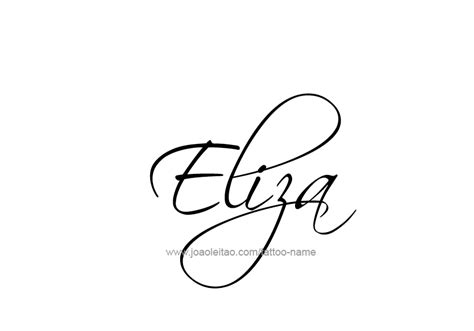 Tattoo Name Eliza | eliza name tattoo designs