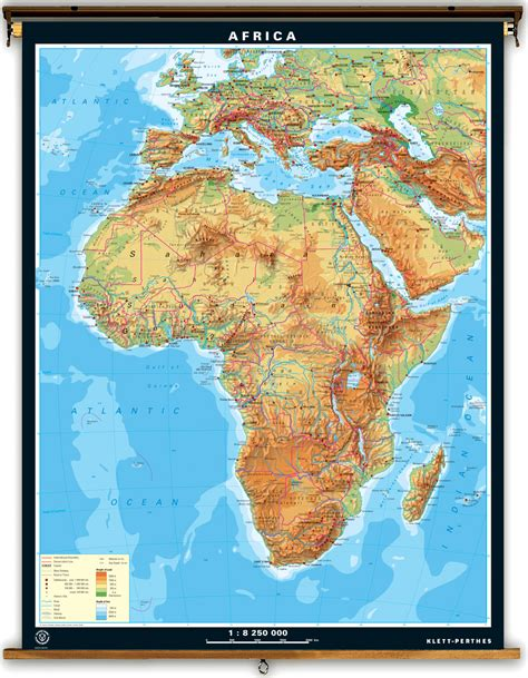 africa map mountains africa mountain map