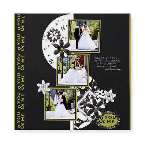Scrapbook Layout Black And White   black white scrapbook pages one page layouts pinterest