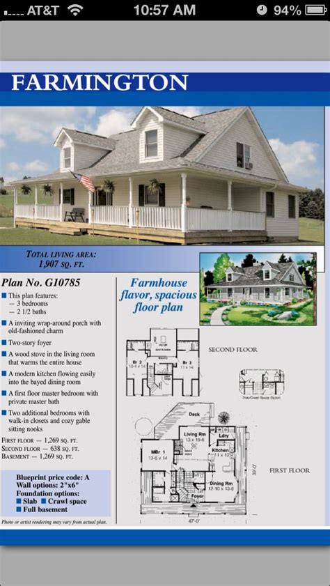 84 lumber home plans 84 lumber farmington house plans dream house pinterest