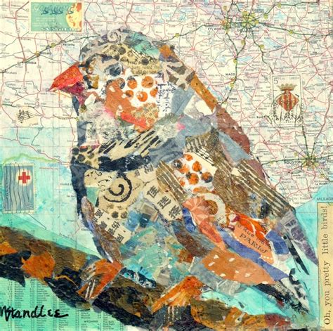 Paper Collage - friday favorite nancy standlee mixed media map