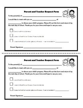 parent meeting report template parent conference request form 4th grade