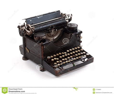old fashioned typewriter stock image image 17709981