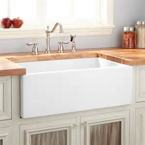 Sink White Kitchen 24 Quot Risinger Reversible Fireclay Farmhouse Sink Smooth