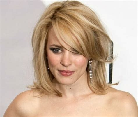 side swept bangs for a square face women hairstyles medium length haircuts for fine hair square face