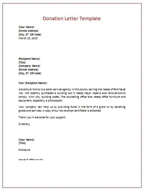 Fundraising Letter Template Free Donation Letter Template Beepmunk