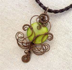 Handmade Wire Wrapped Jewelry - wire wrapped jewelry handmade necklace wire wrapped pendant