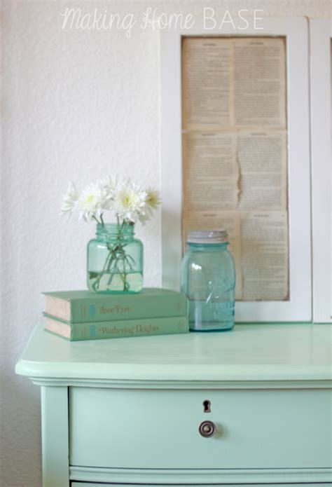 mint color dresser mint painted nightstand mint home decor with paint