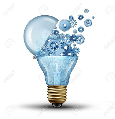 Kaso 3d Evolion light bulb clipart innovative pencil and in color light