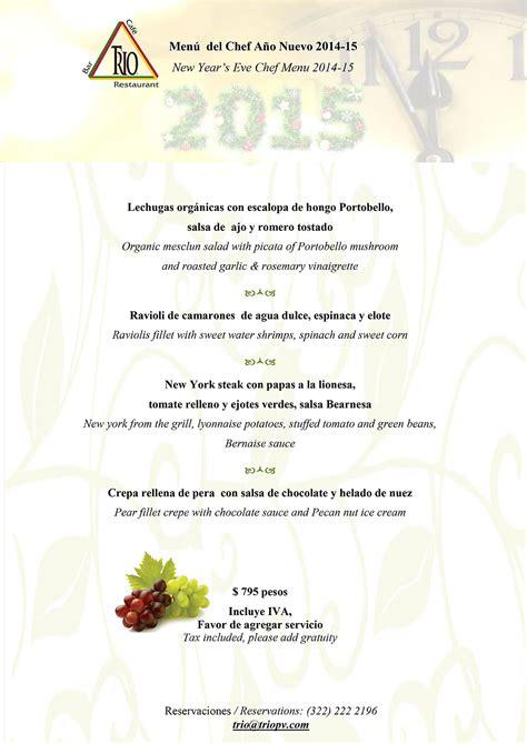 typical new year menu celebraci 243 n de a 241 o nuevo con nuestros menus especiales