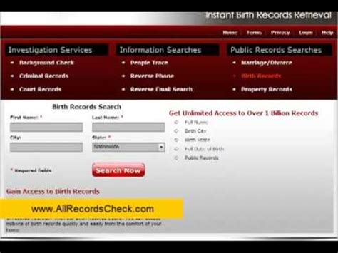 Search Free Birth Records How To Do Free Birth Records Search