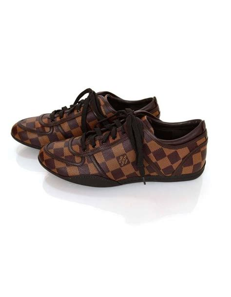 38 Louis Vuitton Shoes louis vuitton damier boogie sneakers sz 38 for sale at 1stdibs