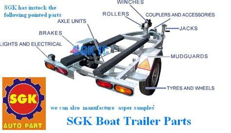 what are the parts of a boat trailer called sgk industrial corporation home
