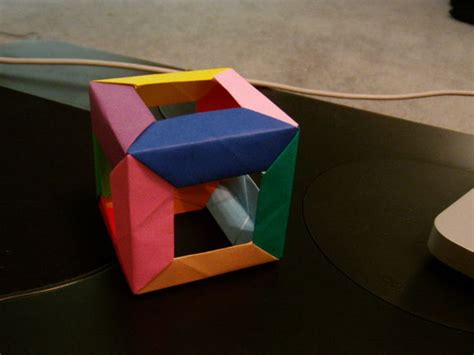 How Do You Make A Paper Cube - open cube modular origami